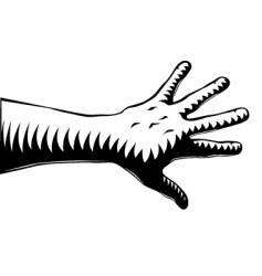woodcut hand vector image vector image