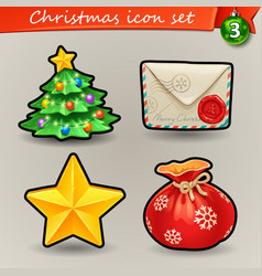 funny christmas icons-3 vector image vector image