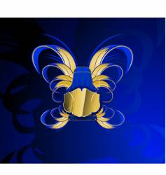 gold and glow blue banner vector image vector image