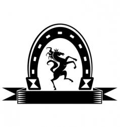 horseshoe lucky symbol vector image vector image
