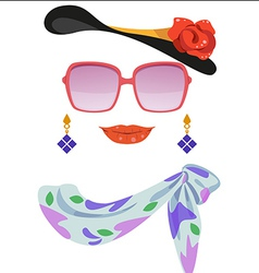 lady2 vector image vector image
