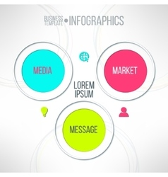 media market message colorful infographic vector image