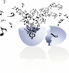 musical egg vector image