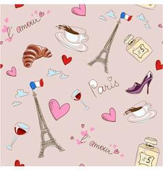 Paris seamless pattern vector image vector image