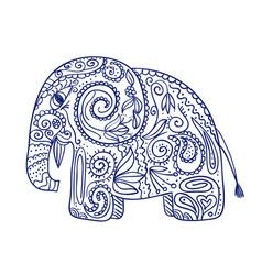 sketch of doodle ethnic elephant vector image