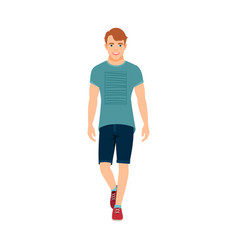 guy in summer clothes vector image vector image