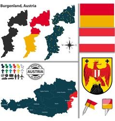 Map of Burgenland vector image