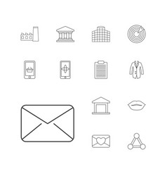 13 business icons vector