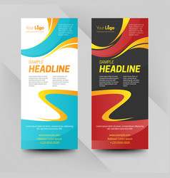 abstract business banners vector image