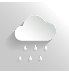Abstract Cloud and Rain Icon vector image