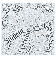 Aikido everyday in life Word Cloud Concept vector