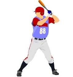 al 0825 baseball 01 vector image