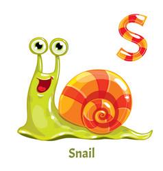 Alphabet letter s snail vector