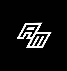 Am logo monogram with up to down style negative vector