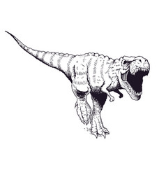 angry tyrannosaur rex vector image