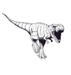 Angry tyrannosaur rex vector