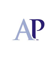 ap initials letter logo vector image