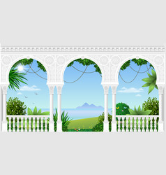 Arch of the eastern palace vector