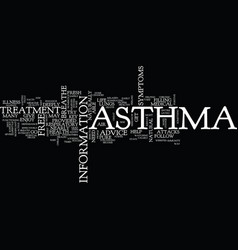 Asthma treatment text background word cloud vector