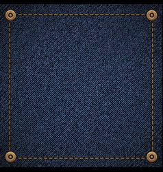 Background blue denim fabric vector