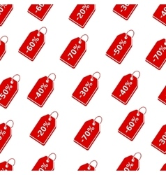 Background with discount price tags vector image