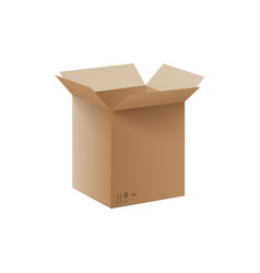 big open carbdoard box isolated on white vector image