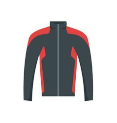 Bike jacket icon flat style vector