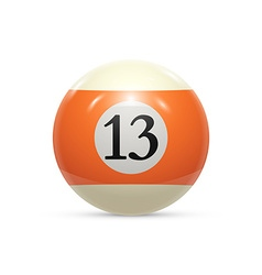 Billiard thirteen ball isolated on a white vector