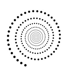 Black dotted spiral symbol simple flat vector