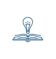Book wisdom line icon concept book wisdom flat vector