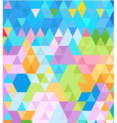 Brightness of colorful in triangles pattern vector image