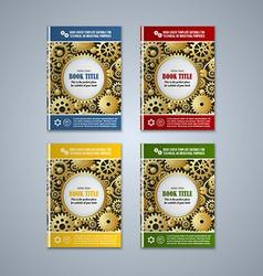 Brochure cover templates vector