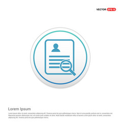 Business report icon - white circle button vector