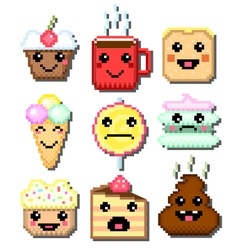 Cakes with funny shit vector image vector image