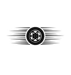car wheel moving logo vector image