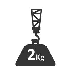 cargo hang hook crane weight vector image