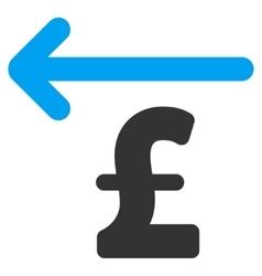Cashback Pound Flat Icon Symbol vector