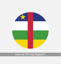 Central african republic round circle flag vector