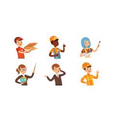 children different professions set cute boys vector image