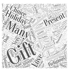 christian christmas gift Word Cloud Concept vector image