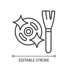 Clean motor after use linear manual label icon vector