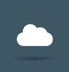 cloud storage icon on white background vector image