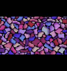 colorful boulders seashore background vector image