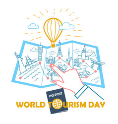Concept world tourism day vector