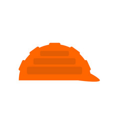 construction orange helmet isolated industrial vector image
