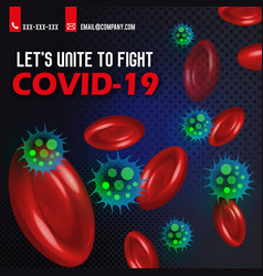 Coronavirus covid19-19 awareness poster design vector