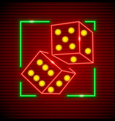 cubes for playing dices vector image