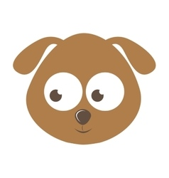 cute dog character isolated icon design vector image