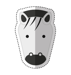 cute zebra character icon vector image