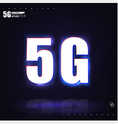 dark poster 5g networks neon-style vector image